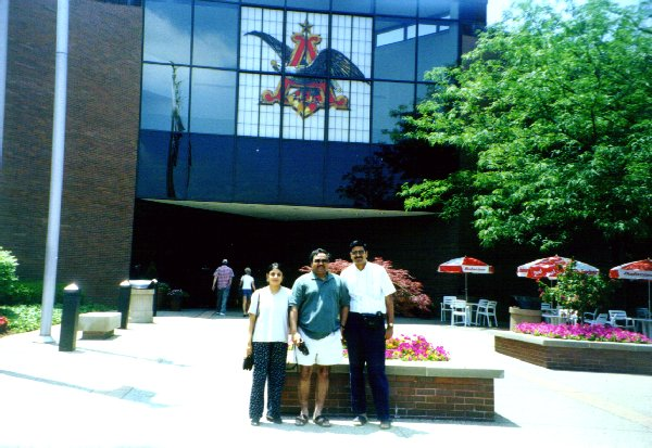 With Sai, Sumitra at Anheuser Busch Brewery Tour